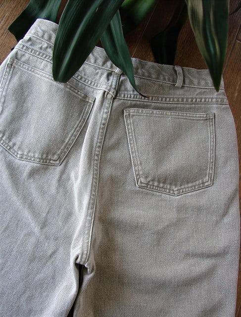 pantaloni vintage dama banana republic talie inalta jeans bumbac crem