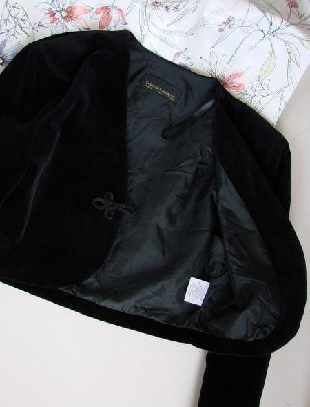 Bolero vintage negru catifea bumbac