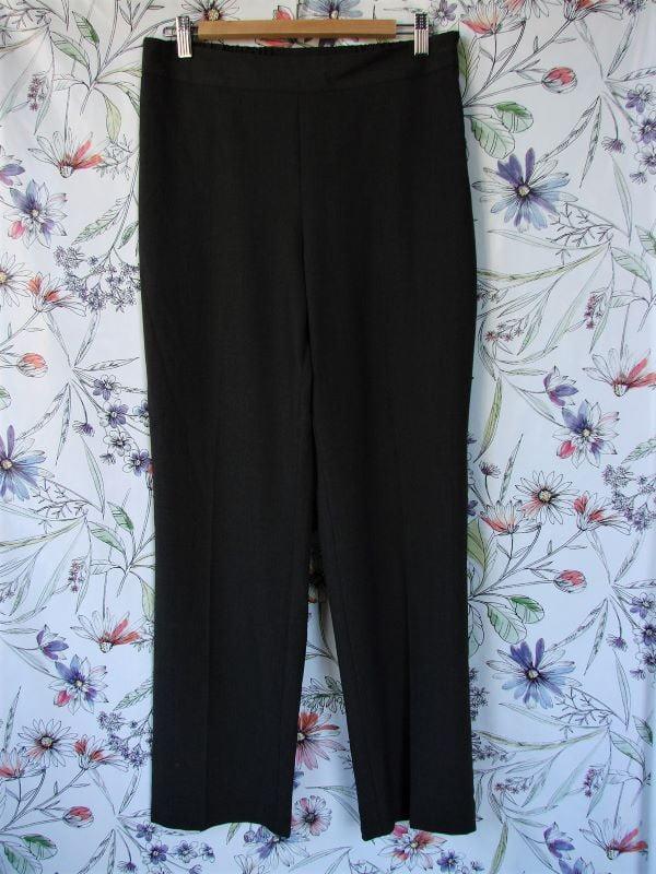 Pantaloni stofa subtire gri inchis birou Marks & Spencer