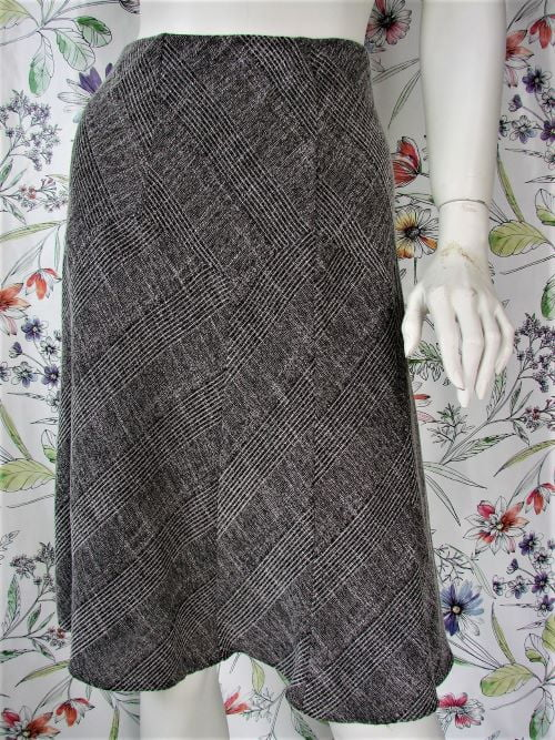 Fusta second hand gri bucle Marks & Spencer