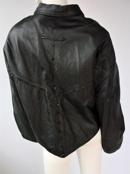 Geaca scurta piele neagra vintage