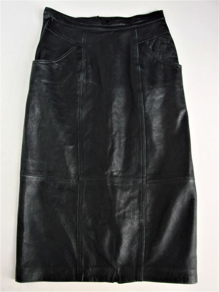 Fusta vintage piele neagra