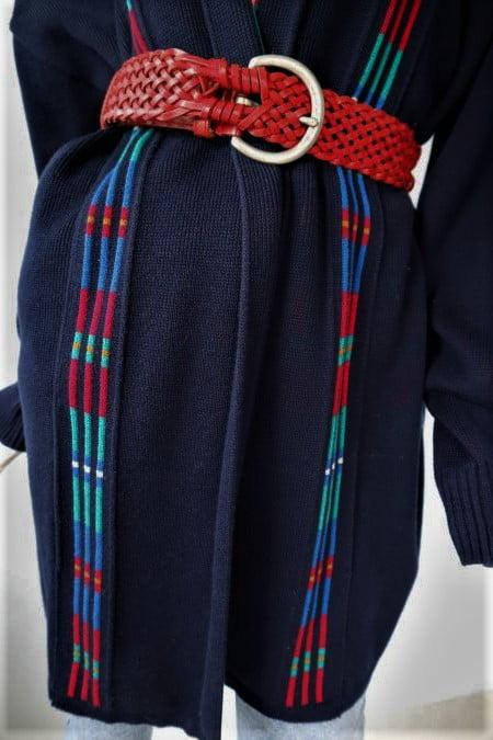 Cardigan gros bleumarin vintage